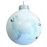 Kép 2/2 - Spitz porcelán hatású üveg fehér 8cm - Karácsonyfadísz