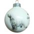 Kép 2/2 - Komondor porcelán hatású üveg fehér 8cm - Karácsonyfadísz