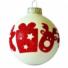 Kép 1/2 - Vidám karácsonyi sorminta, fehér-piros