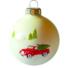 Kép 2/2 - Autó porcelán hatású üveg fehér 8cm - Karácsonyfadísz