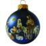 Kép 1/2 - Betlehem matt kék 8cm - Karácsonyfadísz