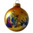 Kép 1/2 - Betlehem matt arany 8cm - Karácsonyfadísz