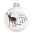 Kép 1/2 - Kínai meztelen kutya porcelán hatású üveg fehér 8cm - Karácsonyfadísz