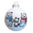 Kép 1/2 - Maci család cicával fényes fehér