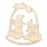 Kép 3/5 - Fa karácsonyfadísz - angyalkák