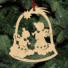 Kép 5/5 - Fa karácsonyfadísz - angyalkák