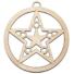 Kép 1/5 - Fa karácsonyfadísz - csillag