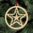 Kép 5/5 - Fa karácsonyfadísz - csillag
