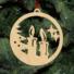 Kép 5/5 - Fa karácsonyfadísz - gyertyák