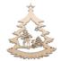 Kép 2/5 - Fa karácsonyfadísz - őzikék