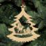 Kép 5/5 - Fa karácsonyfadísz - őzikék