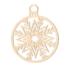 Kép 2/5 - Fa karácsonyfadísz - gömb hópihe