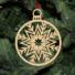 Kép 5/5 - Fa karácsonyfadísz - gömb hópihe
