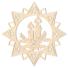 Kép 2/5 - Fa karácsonyfadísz – Csillag gyertyával