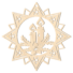 Kép 1/5 - Fa karácsonyfadísz – Csillag gyertyával