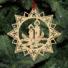 Kép 5/5 - Fa karácsonyfadísz – Csillag gyertyával