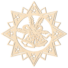 Kép 2/5 - Fa karácsonyfadísz – Csillag harangokkal