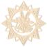Kép 3/5 - Fa karácsonyfadísz – Csillag harangokkal