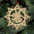 Kép 5/5 - Fa karácsonyfadísz – Csillag harangokkal
