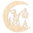 Kép 2/5 - Fa karácsonyfadísz – Lámpás Holdon