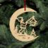 Kép 5/5 - Fa karácsonyfadísz – Lámpás Holdon