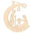 Kép 1/5 - Fa karácsonyfadísz – Betlehem