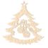Kép 2/5 - Fa karácsonyfadísz – Fenyőfa díszekkel