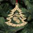 Kép 5/5 - Fa karácsonyfadísz – Fenyőfa díszekkel