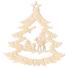 Kép 1/5 - Fa karácsonyfadísz – Fenyőfa őzikékkel