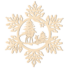 Kép 1/5 - Fa karácsonyfadísz – Hópehely őzikével
