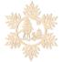 Kép 3/5 - Fa karácsonyfadísz – Hópehely őzikével