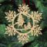 Kép 5/5 - Fa karácsonyfadísz – Hópehely őzikével