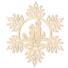 Kép 2/5 - Fa karácsonyfadísz – Hópehely gyertyával