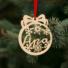 Kép 2/2 - Fa karácsonyfadísz – Apa