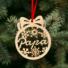 Kép 2/2 - Fa karácsonyfadísz – Hugi