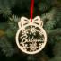 Kép 1/2 - Fa karácsonyfadísz – Bátyus