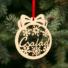 Kép 2/2 - Fa karácsonyfadísz – Család
