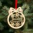 Kép 1/2 - Fa karácsonyfadísz – Boldog karácsonyt