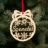 Kép 2/2 - Fa karácsonyfadísz – Szeretet
